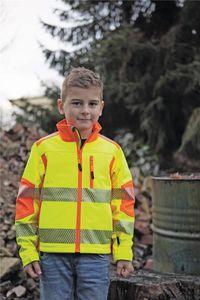 Kinder-Warnschutzsoftshelljacke Gr.128 gelb/orange 100%.Polyester 1 St.Terrax