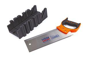 HBM 300 mm. Gehrungssäge mit Gehrungskasten