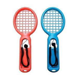 Tennisschläger für Nintendo Switch Mario Tennis Aces Spiele Tennis Racket für Joy-Con Controllers Tennis Backet Mount - Rot+Blau