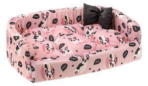 hundekorb Harris Woof 50 x 35 x 15 cm Baumwolle rosa