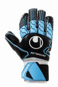 uhlsport Soft HN (Half Negative Cut) Competition Torwarthandschuhe schwarz/skyblau/weiß 11