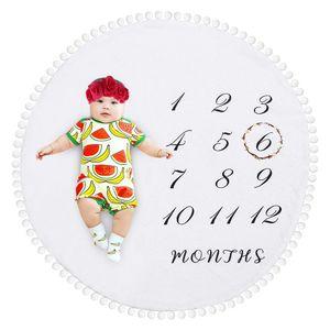 Baby Fotoshooting Requisiten Monatliche Decke Fotohintergrund-Decke aus Flanell für Jungen Mädchen