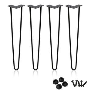 Wolketon 4x Hairpin Legs Hairpins Tischkufen Haarnadelbeine DIY Tischbeine Austauschbare