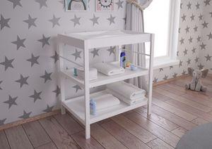 Polini Kids Baby Wickeltisch Wickelstation Wickelregal weiß, 3049-04
