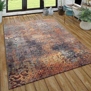 Teppich Wohnzimmer Vintage Design Abstraktes Ethno Muster Kurzflor, Mehrfarbig, Grösse:160x220 cm