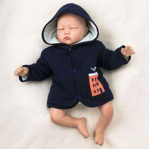 Baby Jungen Jacke mit Kapuze navy Patches braunBaumwolle 3-6 Monate (68)