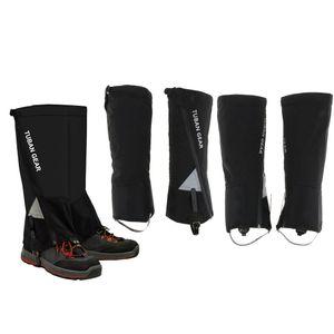 4pcs wasserdichte Walking Trekking Gamaschen Stiefel Leggings abdecken ML Schwarz m
