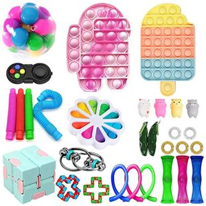 Ruigo 30stücke  Sensorische Fidget Spielzeug-Satz für Kinder oder Erwachsene Fidget Toys Pack-Hand Spielzeug Stress-Angst Relief Spielzeug Set für ADHS