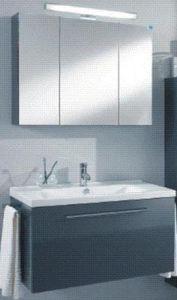 Badmöbel Set, MarlIn City 12 90cm Eckig BadMöbel, Waschbecken, ohne Spiegelschrank, City12