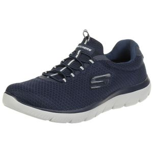 Skechers Herren Low Sneaker Blau Schuhe, Größe:43