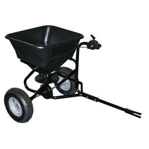 Handwagen Streuwagen für Aufsitzmäher 30kg mit Luftreifen für Saatgut TC2029