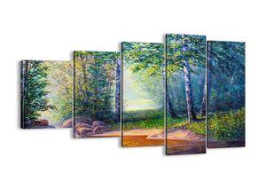 """Leinwandbild - 100x60 cm - """"Idyllische Landschaft""""- Wandbilder - Landschaft Fluss Wald - Arttor - EG100x60-4063"""