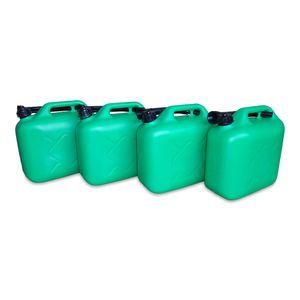 4 x 10 Liter 10 L Dieselkanister Benzinkanister Kraftstoffkanister UN-Zulassung grün inkl. Ausgießer (4x10 KK grün)