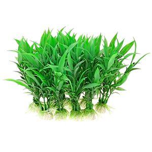 2x 10 Stück Künstliche Wasserpflanze Plastikgras