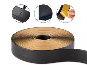 Sockelleiste schwarz, selbstklebend und zuschneidbar, 50 x 15 mm, Länge: 15 m