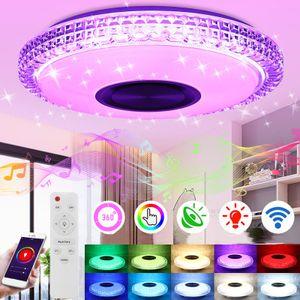100W DIMMBAR RGB LED Deckenlampe Deckenleuchte bluetooth music mit Remote