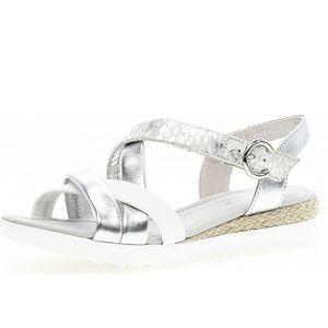 Gabor Comfort Weite G Sandalette Silber Größe 6, Farbe: silber weiss