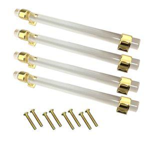4 stück 160mm Möbelgriff Schrankgriff Schubladengriffe Zugknopf für Schranktür, Golden