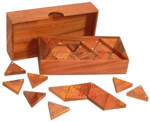 Tri Domino 19,5x10x4cm, 56 Steine
