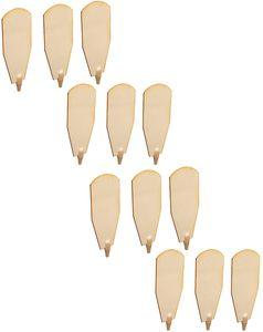 BRUBAKER Flügelrad Ersatzteile - 12 Flügel für Weihnachtspyramiden 45 cm / 60 cm Holz naturfarben