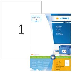 Etiketten Premium A4, weiß 210x297 mm Papier matt 100 St.