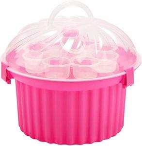 Muffin-Cupcake Transportbox aus Kunststoff Rund