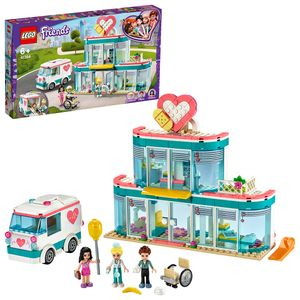 LEGO 41394 Friends Krankenhaus von Heartlake City,  Spielset mit Emma und 2 anderen Minipuppen für Jungen und Mädchen ab 6 Jahren