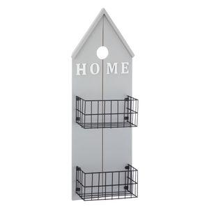 Hängeregal HOME in grau mit 2 Körben in schwarz