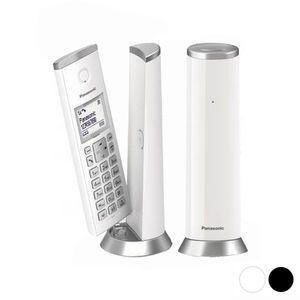 Panasonic KX-TGK212SP, DECT-Telefon, Kabelloses Mobilteil, Freisprecheinrichtung, 50 Eintragungen, Anrufer-Identifikation, Silber, Weiß