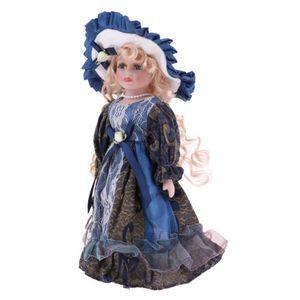 2pcs 30cm Porzellan Viktorianische Puppe u0026 Kostüme, Stehende Babypuppe Mit Ständer, Weihnachtsgeschenk Für Puppenliebhaber Oder Sammler, Puppenha