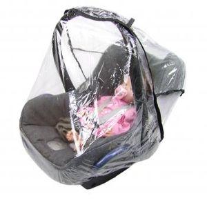 BAMBINIWELT Universal Regenschutz, Regenverdeck, Regenhaube, Regendach für Babyschale (z.B. Maxi-Cosi / Cybex / Römer) , gute Luftzirkulation,, Eingriffsöffnung für Tragegriff, PVC-frei
