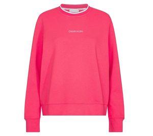 Calvin Klein Sweatshirt schöner Damen Pullover Freizeit-Pulli Rosa, Größe:XS