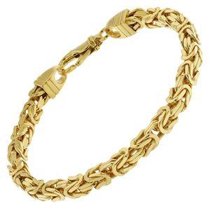 trendor 51324 Armband Königskette Gold auf Silber 925 Breite 4,7 mm, 23 cm