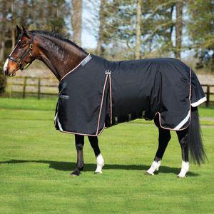 Horseware Rambo Optimo Turnout Lite 0g - Black/Orange , Größe:155