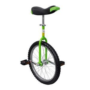 vidaXL Einrad 20 Zoll Einstellbar Grün