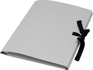 folia Zeichnungsmappe aus Graupappe DIN A2 mit Schleife