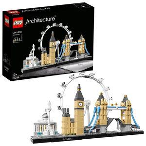 LEGO 21034 Architecture London, Skyline-Kollektion, London Eye, Big Ben, Tower Bridge, Bauset, Geschenkidee für Sammler