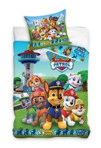 Paw Patrol Bettwäsche 80x80 + 135x200 cm · Kinder-Bettwäsche für Mädchen & Jungen - 100% Baumwolle