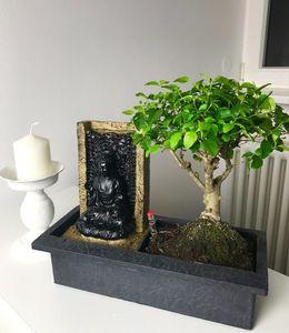 Bonsai-Baum mit dekorativem Buddha-Wasserfall;1 Stück
