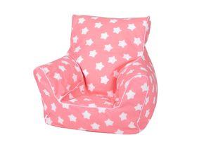 "Kindersitzsack - ""Pink white stars"""