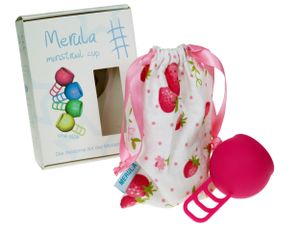Merula Menstrual Cup - Menstruationstasse STRAWBERRY (pink)