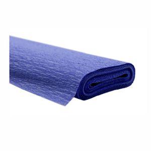 Creleo - Krepppapier blau 50x250 cm Rolle färbt nicht ab bei kontakt mit Wasser