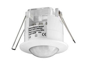Goobay Infrarot Bewegungsmelder für Innen - Unterputz Deckenmontage -LED geeignet -  360 Grad Erfassung - 6m Reichweite