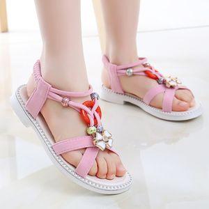 Kinderstrandsandalen Princess Flat Slippers Rutschfeste Schuhe mit weichen Sohlen Größe:31,Farbe:Rosa