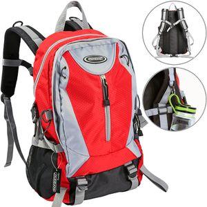 Outdoor Rucksack 40L schwarz/rot/blau wählbar (Farbe: rot)