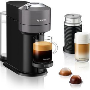 DeLonghi ENV120.GYAE VertuoNext Basic Nespressoautomat Dark Grey inkl. Aeroccino3, Farbe:Dunkelgrau