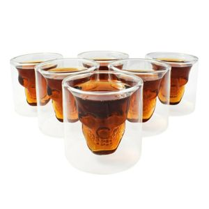 10 Stk Skull-in-glass Schnapsgläser Shot Glas Totenkopf Schädel 25ml Partyglas