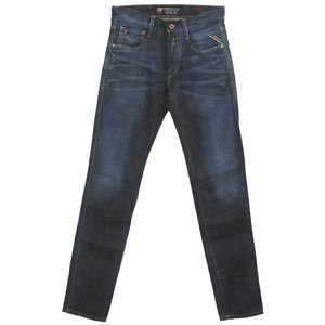 19802 Replay, Anbass Slim,  Herren Jeans Hose, Denim, darkblue used, W 29 L 32