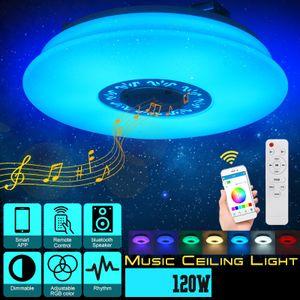 120W 36cm bluetooth RGB LED Deckenlampe Lautsprecher Dimmbar Deckenleuchte