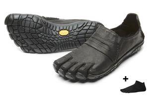 Vibram FiveFingers CVT Leather Men + Zehensocke, Size:46, Color:Black